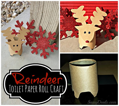 Mini Reindeer Toilet Paper Roll Christmas Craft For Kids