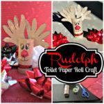 Handprint Reindeer Toilet Paper Roll Craft For Kids (Rudolph)
