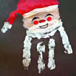 Santa Claus Handprint Christmas Craft For Kids