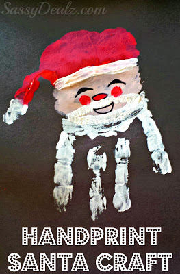 Santa Claus Handprint Christmas Craft For Kids Crafty