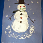Easy Puffy Paint Snowman Art Project For Kids
