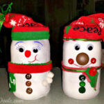 DIY Snowman Mason Jar Craft For Kids (Light Decoration)