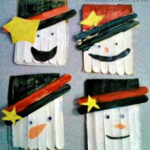 DIY Popsicle Stick Snowman Craft For Kids