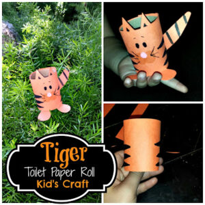 DIY: Easy Tiger Toilet Paper Roll Craft For Kids