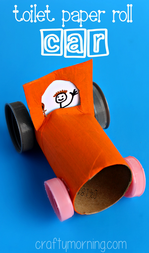 Simple Toilet Paper Roll Car Craft For Kids Crafty Morning