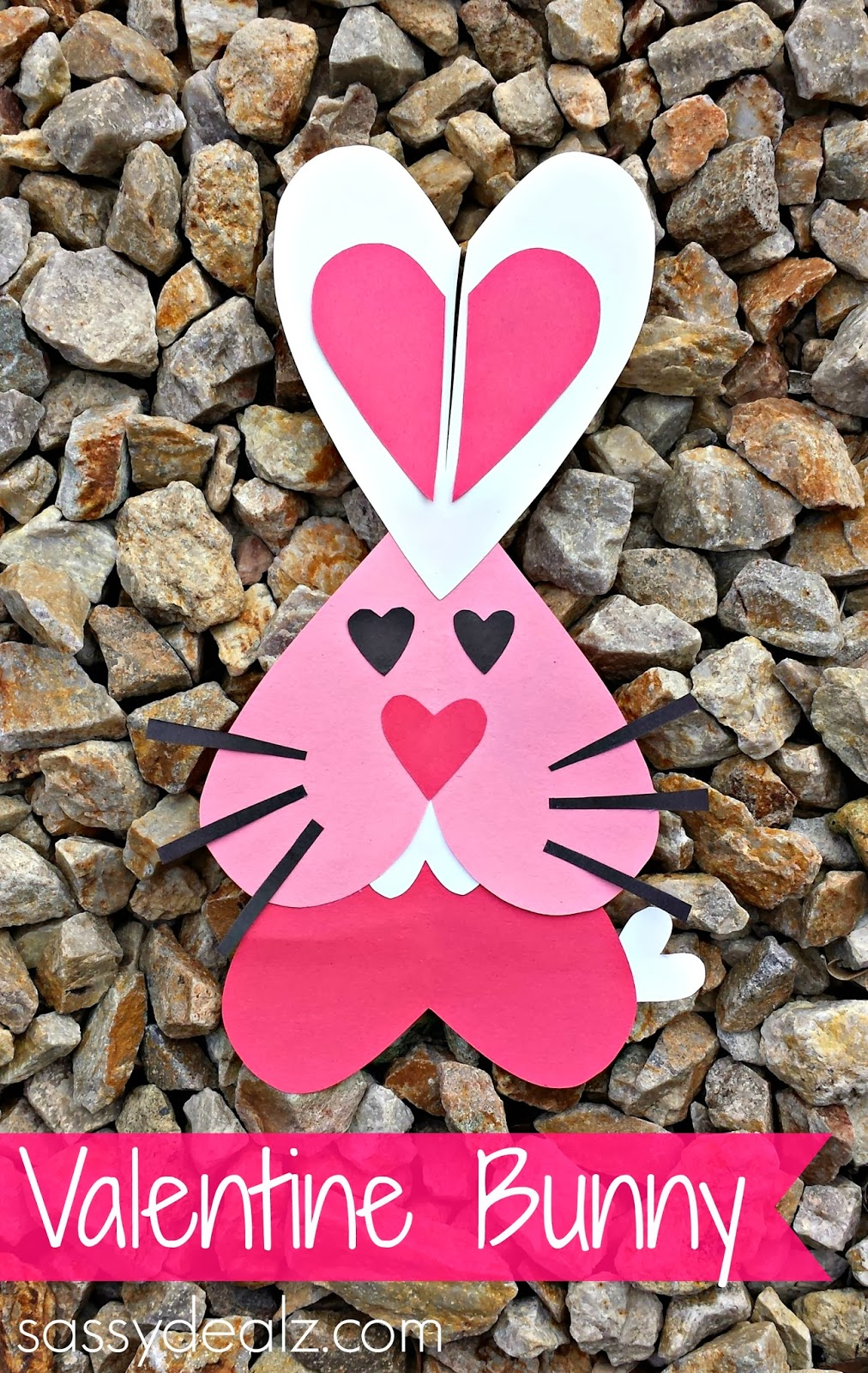 Heart Bunny Rabbit Craft For Kids Valentines Day Project