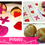 DIY Potato Stamping Craft For Kids (Valentine's Day Idea)
