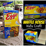 DIY: Recycled Eggo Waffle Box House (Easy Kid's Tape Craft)