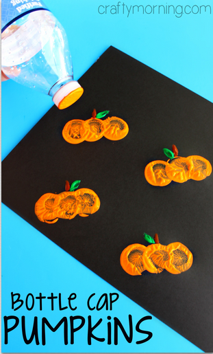 bottle-cap-pumpkin-stamping-craft-for-kids