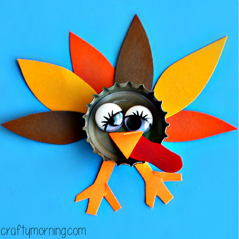 bottle-cap-turkey-thanksgiving-craft