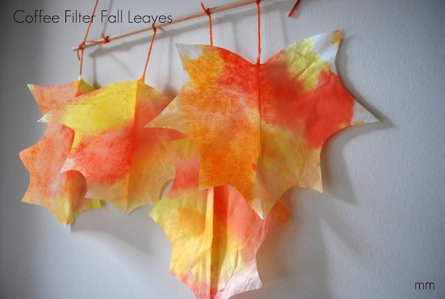 coffee-filter-leaf-craft-for-kids