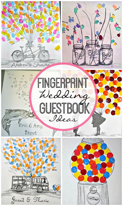 Creative Fingerprint Wedding Guestbook Ideas Crafty Morning