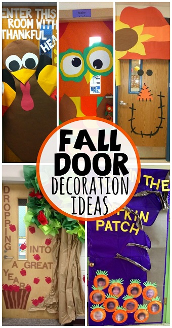 Classroom Decoration Games Free ~ Fall door decoration ideas for the classroom crafty morning