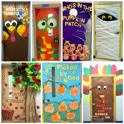 fall door decoration ideas for the classroom crafty morning rh craftymorning com Dory Classroom Door Decorated Bright Decorated Classroom Doors