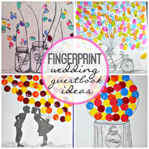 Creative Fingerprint Wedding Guestbook Ideas