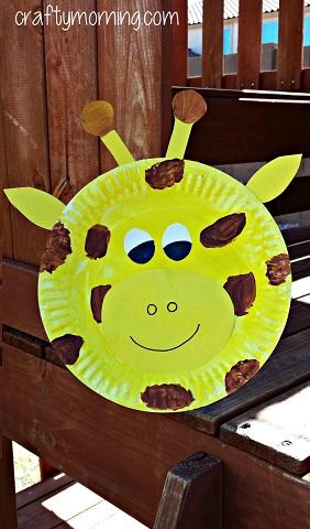 giraffe-paper-plate-craftss