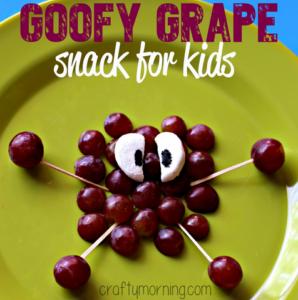 Goofy Grape Snack for Kids