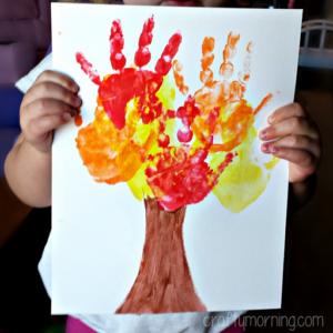 Kids Handprint Fall Tree Craft