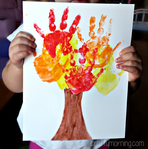 Kids Handprint Fall Tree Craft