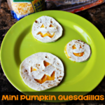 Mini Pumpkin Quesadillas for a Halloween Lunch Idea