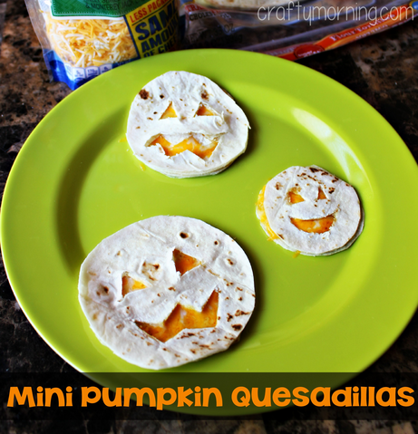 pumpkin quesadillas halloween lunch