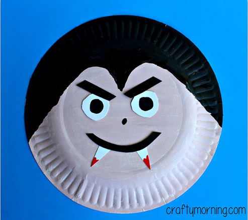 paper-plate-v&ire-halloween-craft- & Paper Plate Vampire Craft for Kids - Crafty Morning