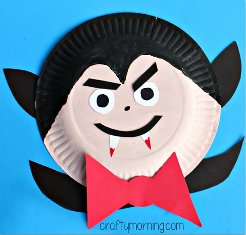 Creative Halloween Crafts for Kids to Make · Paper Plate V&ire Craft for Kids & Paper Plate Halloween Crafts for Kids - Crafty Morning