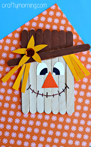 popsicle-stick-scarecrow-craft-for-kids-  sc 1 st  Crafty Morning : paper plate scarecrow craft - pezcame.com