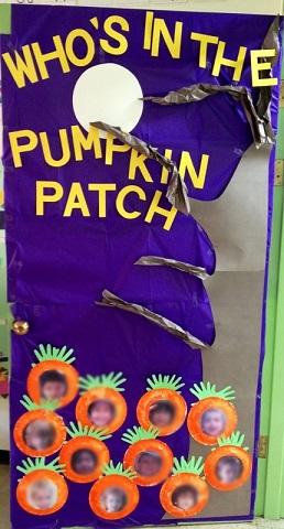 Classroom Door Decorations For Halloween fall door decoration ideas for the classroom - crafty morning