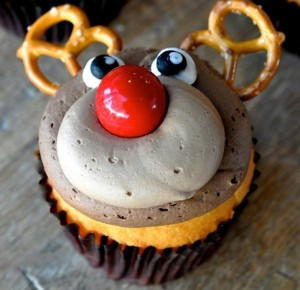 Adorable Rudolph the Reindeer Cupcakes