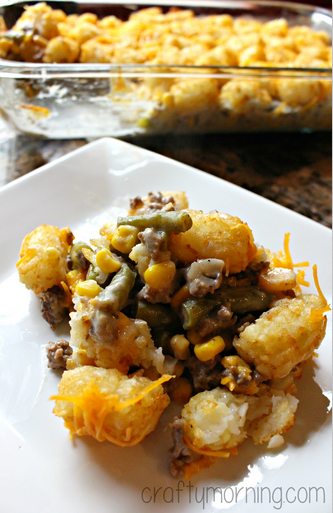 tater tot hotdish ingredients 1 2 package of tater tots 32 oz 1 can of ...
