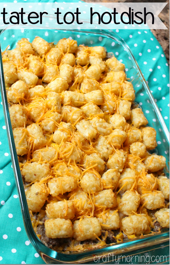 Easy and Delicious Tater Tot Hotdish Recipe - Crafty Morning