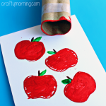 Make Apple Stamps Using a Toilet Paper Roll