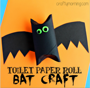 Toilet Paper Roll Bat Craft for Kids