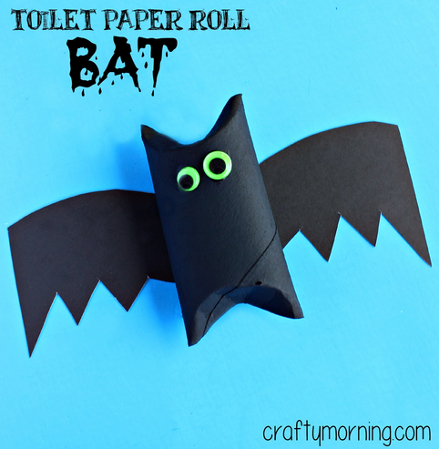 toilet paper roll bat halloween craft for kids - Halloween Bats Crafts