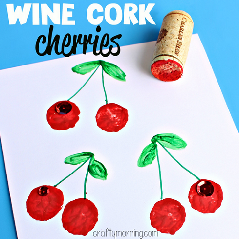 wine cork cherries