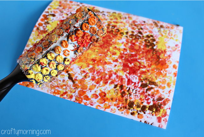 bubble-wrap-turkey-craft-for-kids-