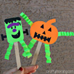 Easy Halloween Popsicle Stick Puppets