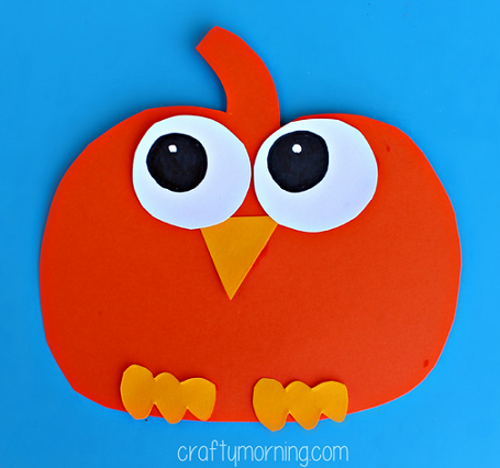 Paper Pumpkin Owl Craft for Kids - Crafty Morning