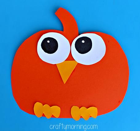 Halloween Pumpkin Owl Craft For Kids