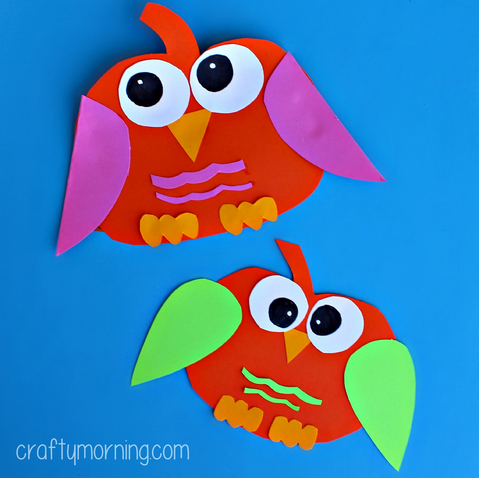 Paper Pumpkin Owl Craft For Kids Crafty Morning