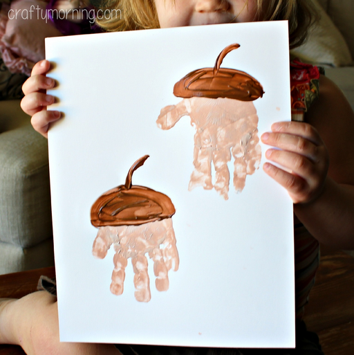 handprint acorn craft for kids to make crafty morning