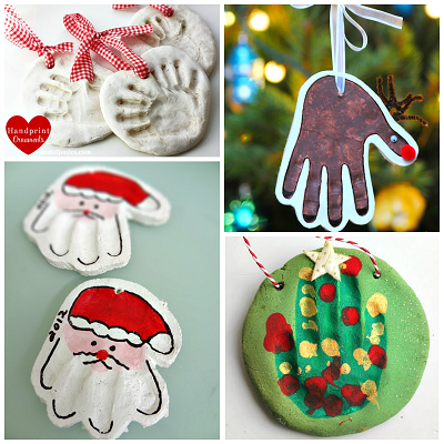 homemade salt dough handprint ornaments crafty morning - How To Make Your Own Christmas Decorations