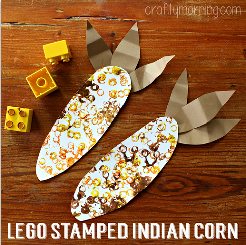 lego-stamped-indian-corn-craft-for-kids