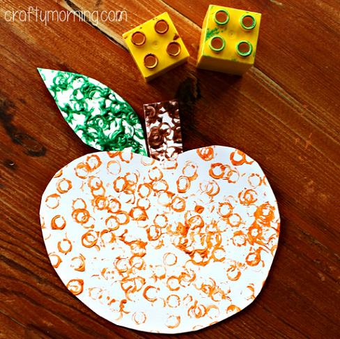 lego-stamped-pumpkin-craft-for-kids-