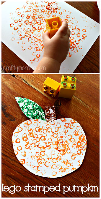 Easy pumpkin crafts for kids to make this fall crafty for Lego crafts for kids