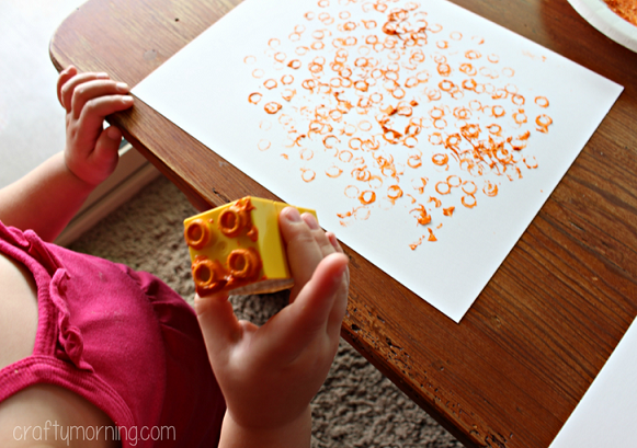 lego-stamped-pumpkin-craft-for-kids