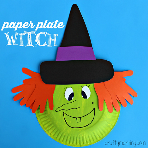 paper-plate-witch-craft-for-kids-at-halloween-