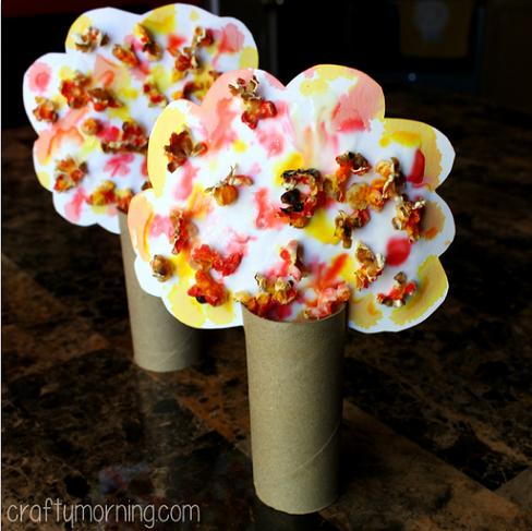 popcorn fall tree craft