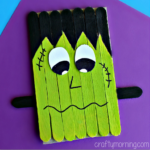 Popsicle Stick Frankenstein Craft for Kids to Make